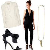 White Blazer + Jumpsuit