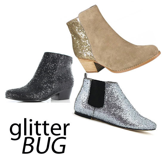 Top Five Glitter Ankle Boots to Buy Online: Shop the Shiny Shoe Trend