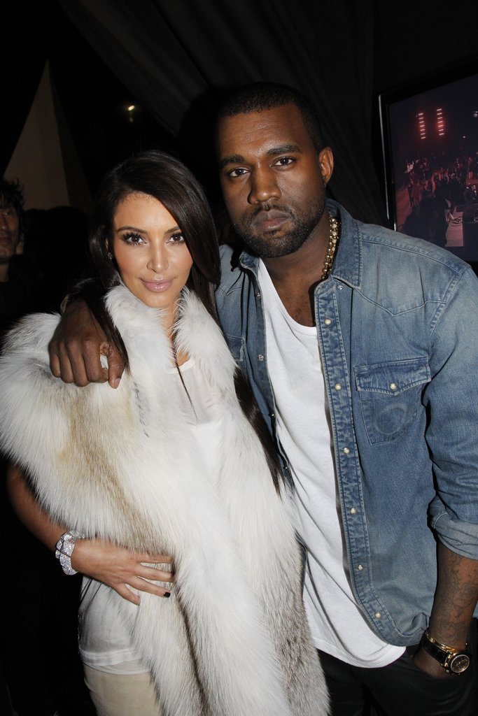 Kim Kardashian and Kanye West caught up at his show.
