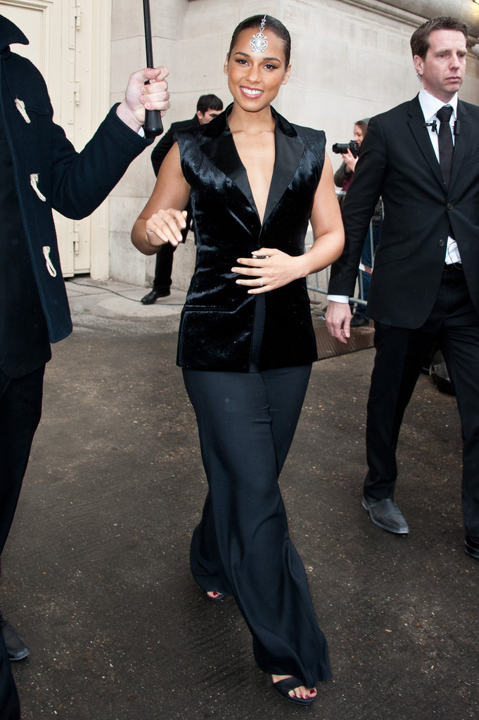 Alicia Keys waved as she left Chanel.
