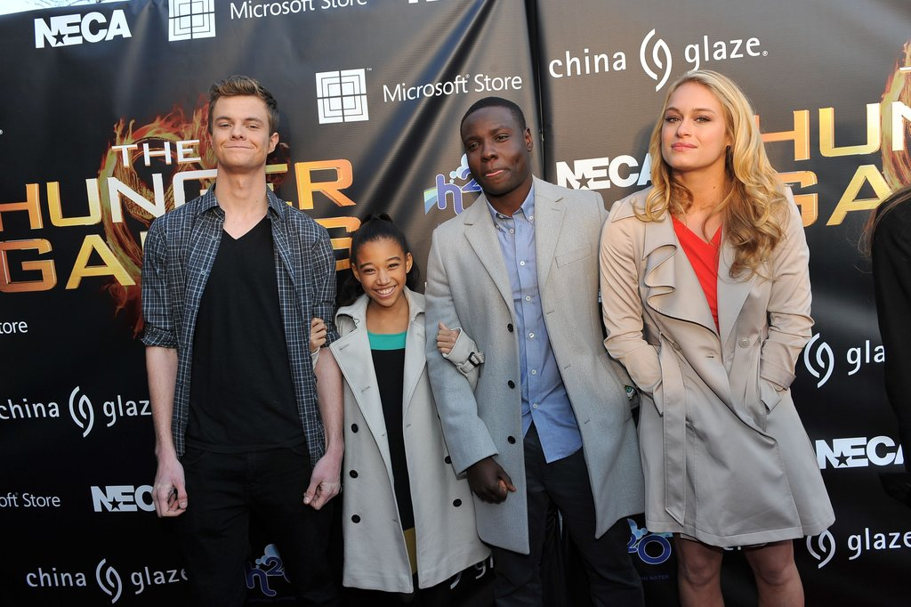 Jack Quaid, Amandla Stenberg, Dayo Okeniyi, and Levin Rambin posed for pictures.