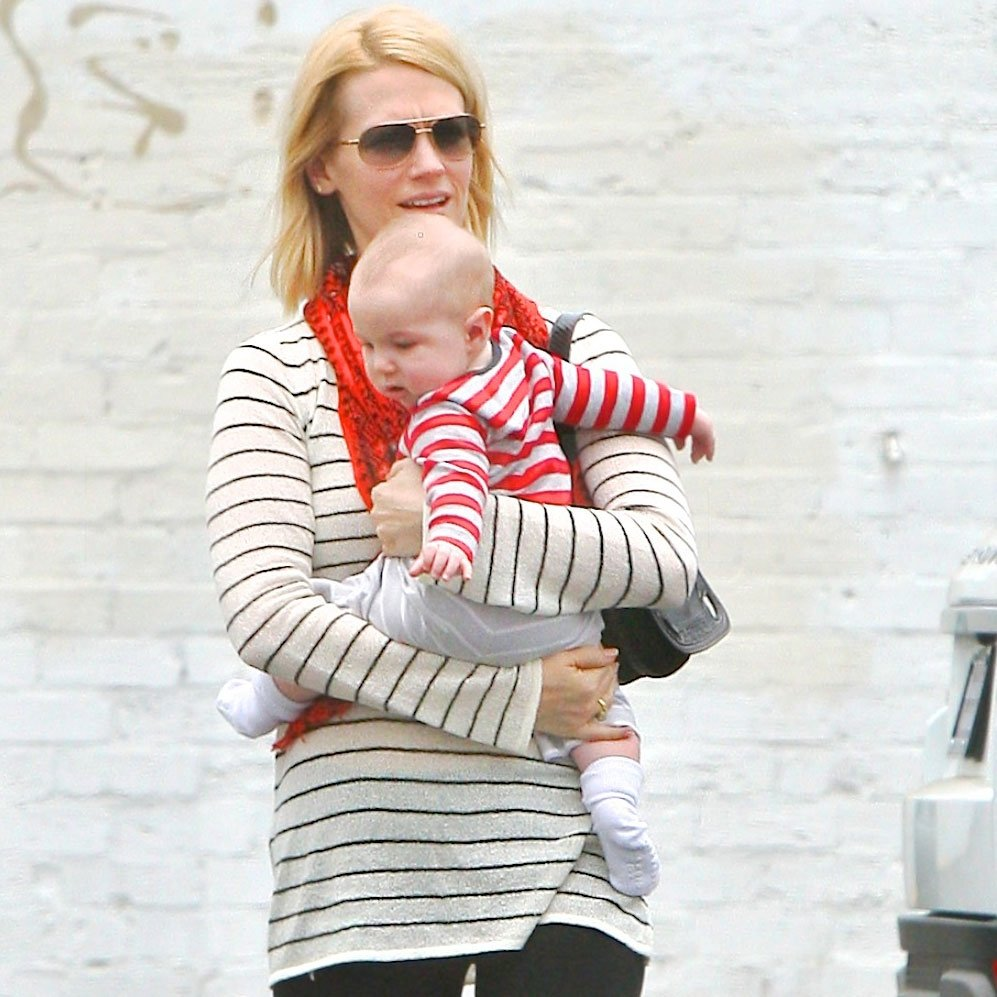 January Jones out in LA with son Xander Jones.