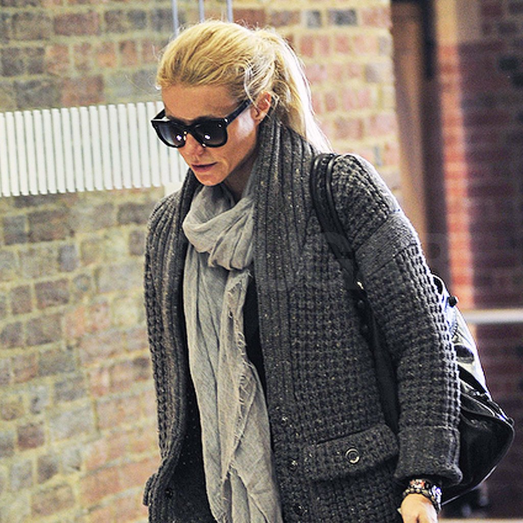 Gwyneth Paltrow with big sunglasses on.