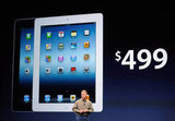 Phil Schiller announces that the new iPad with WiFi only starts pricing at $499.