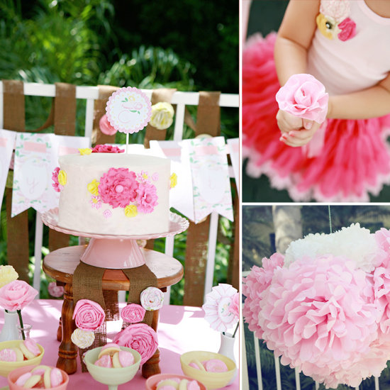 A Pretty Floral Fourth Birthday Party!
