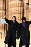 Barack and Michelle held hands on Feb. 10, 2007, the day he announced he was running for president.