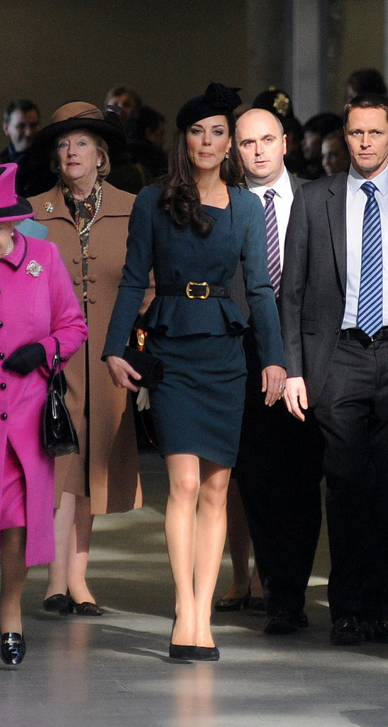 Kate Middleton at St. Pancras station in London.