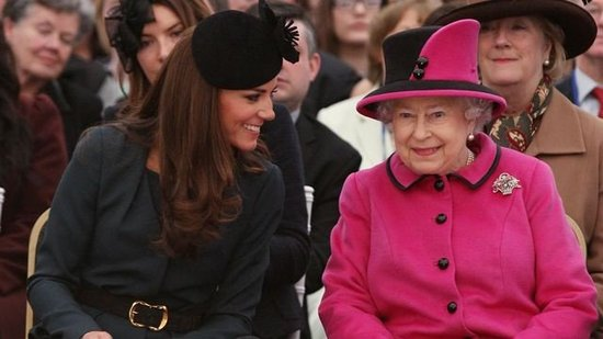 Video: Kate Middleton and the Queen Bond in the Front Row at a Fashion Show