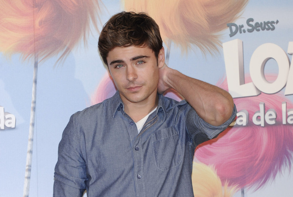 Zac Efron doing press for The Lorax.