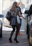 Jessica Alba leaving her office in LA.
