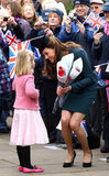 Kate Middleton met with a youngster in Leicester.