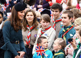 Kate Middleton greeted well-wishers in Leicester.