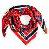 Marc by Marc Jacobs Coral Red Multicolor Light Hearted Scarf