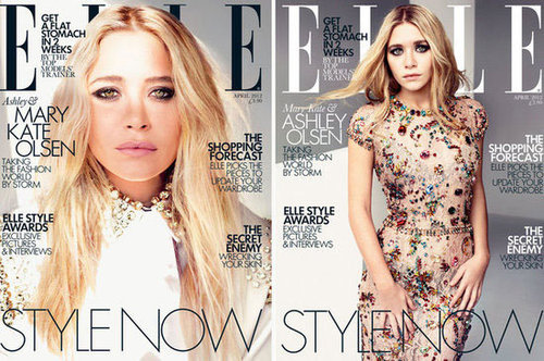 Mary-Kate and Ashley Olsen on the Cover of UK Elle's April 2012 Issue: Which Cover Do You Prefer?