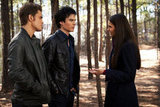 Paul Wesley as Stefan, Ian Somerhalder as Damon, and Nina Dobrev as Elena in The Vampire Diaries. Photo courtesy of The CW