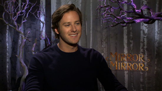 "Video: Armie Hammer on His ""Awkward Man-Child"" Role in Mirror Mirror and Working With ""Awesome Dude"" Johnny Depp"