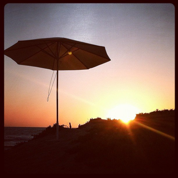 Lauren Conrad captured a photo of the sunset in Malibu.