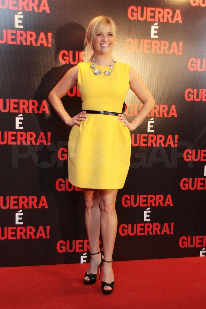 Reese Witherspoon wore bright yellow.