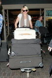 Cameron Diaz had lots of luggage.