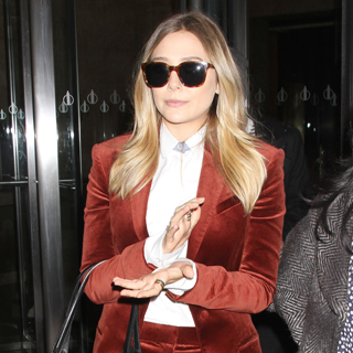 See Elizabeth Olsen In A Velvet Rust Suit by The Row For Taping of the Today Show in NYC: Stalk Her Style!