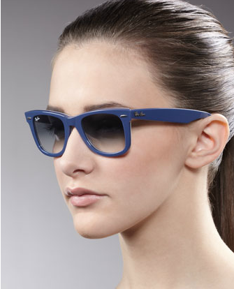 Wayfarers flatter almost every face shape. Amp up you style in this cool blue hue.  Ray-Ban Wayfarer Sunglasses in Blue ($159)