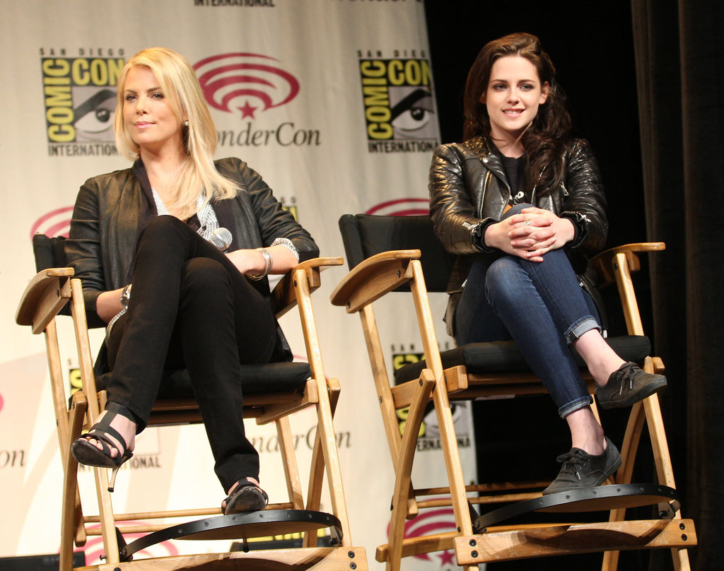 Charlize Theron and Kristen Stewart talk SWATH at WonderCon.