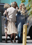 Jessica Simpson greets her sister, Ashlee, at her baby shower.