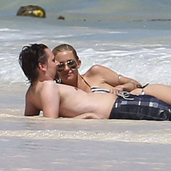 Kate Hudson wore a bikini with shirtless Matthew Bellamy.
