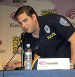 Jonah Hill in a police uniform at WonderCon.