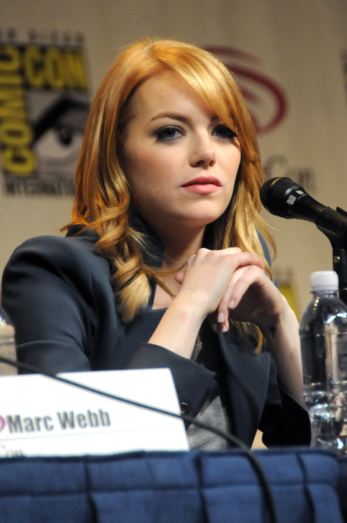 Emma Stone with lighter hair.