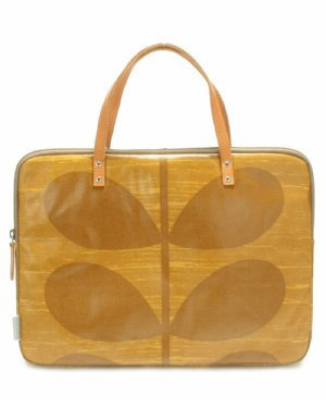 Orla Kiely Textured Tonal Stem Ochre Laptop Sleeve ($98)