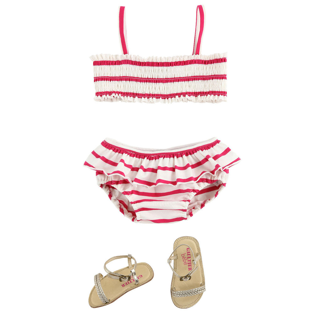 Junior Gaultier Bathing Suit and Gold Sandals ($117)