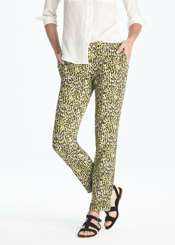 If you dig Beyoncé's black-and-yellow color scheme, then re-create her look with this J.Crew abstract leopard pair ($148). For something even more bold, throw on a slouchy bright pink sweater.