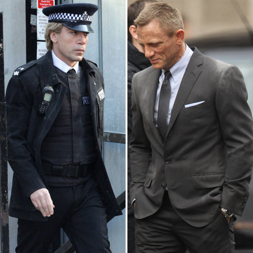 Daniel Craig and Javier Bardem Pictures Shooting Skyfall