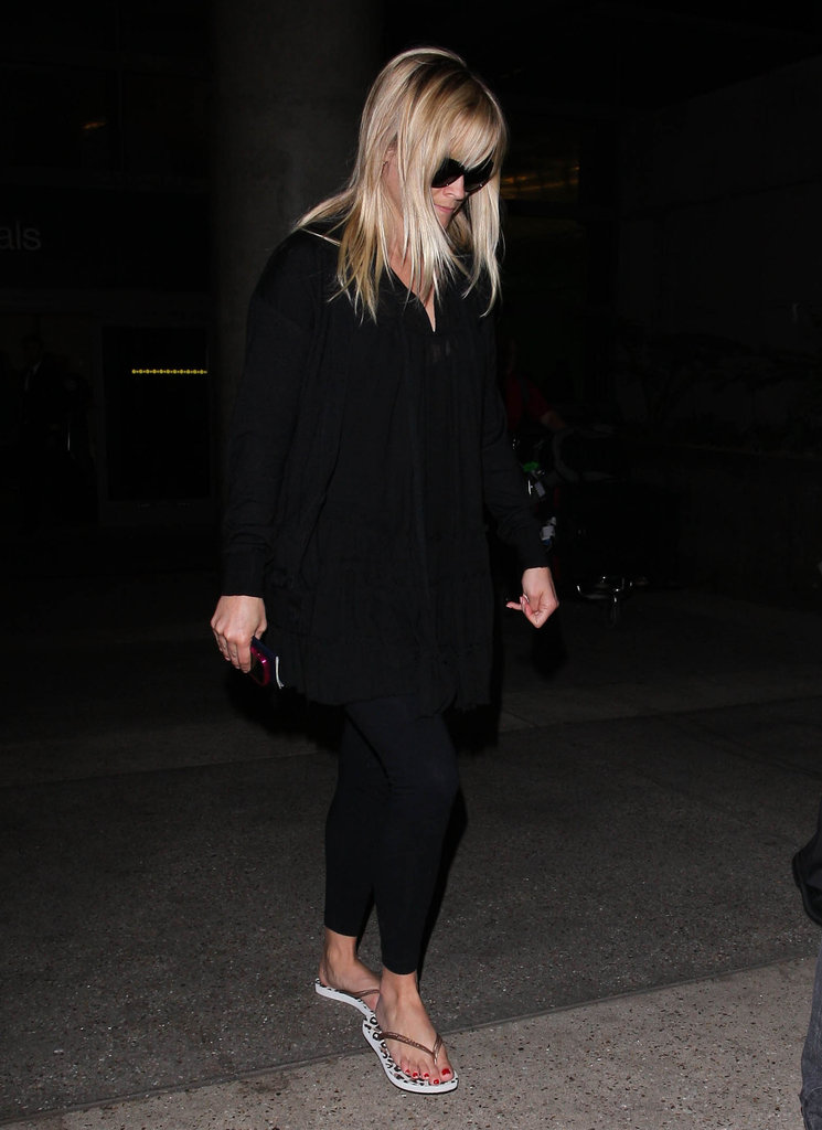 Reese Witherspoon wore flip flops at LAX.