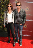 Rande Gerber and Cindy Crawford hit the red carpet at the John Varvatos Stuart House benefit.
