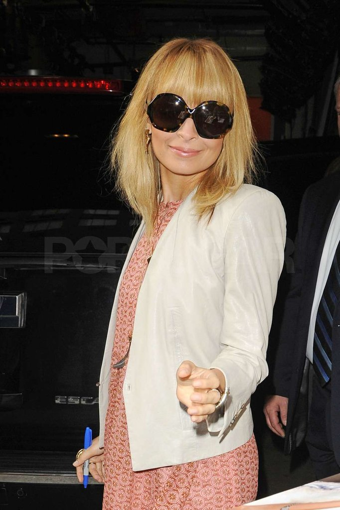 Nicole Richie chose some of her signature oversized shades.