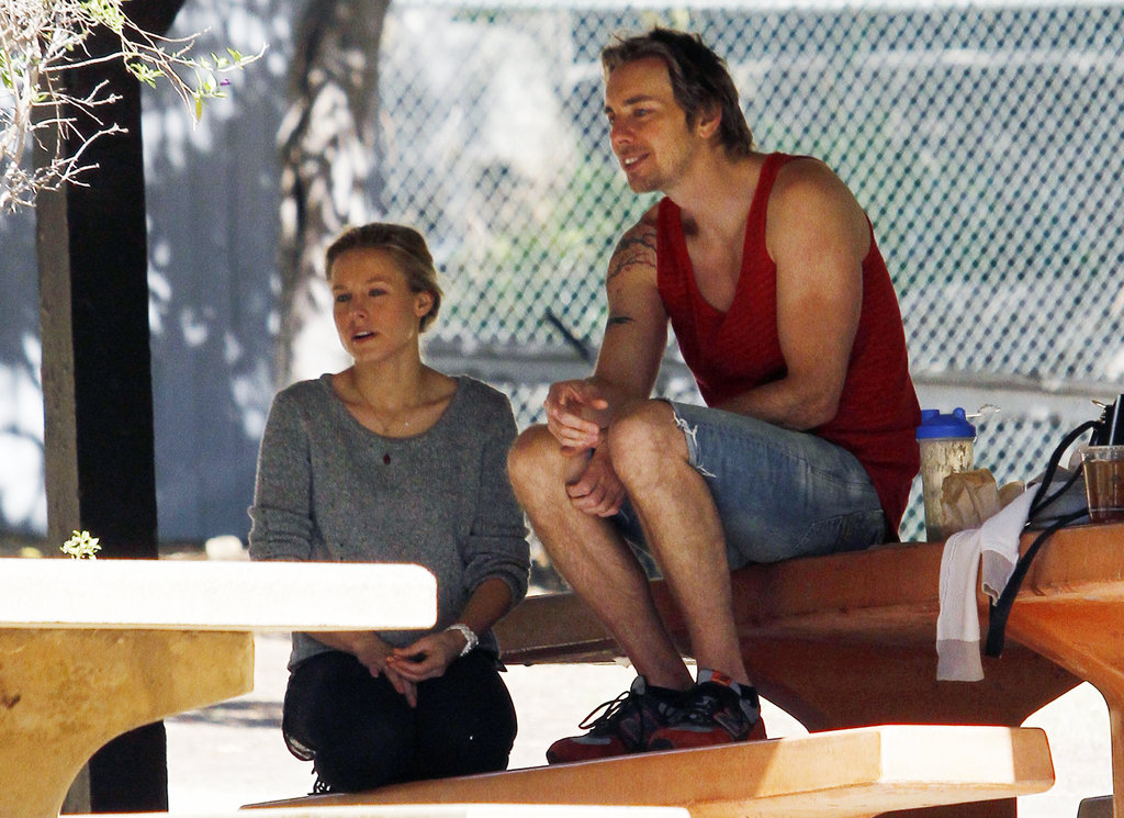 Kristen Bell and Dax Shepard at Griffith Park.