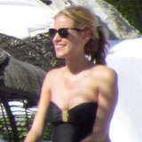 Kristin Cavallari pregnant in a bathing suit.