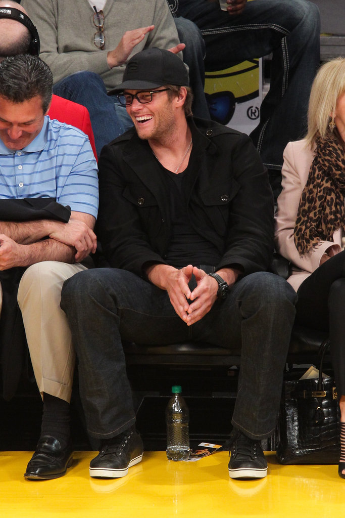 Tom Brady checked out the Celtics vs. Lakers game.
