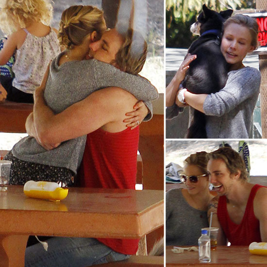 Kristen Bell and Dax Shepard Spend a Park Day With Pets, PDA, and Pals