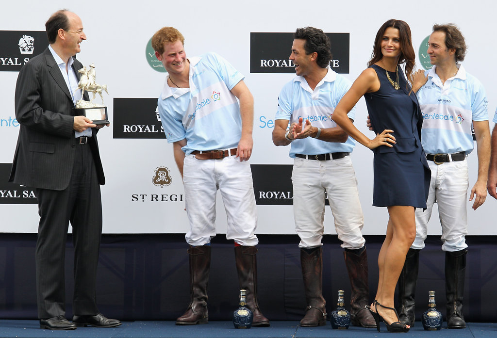 Prince Harry wasn't afraid to check out Fernanda.