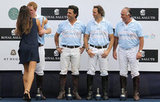 Prince Harry kissed Brazilian model Fernanda Motta as his teammate Calao Mello looked on after playing polo.