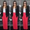 Rachel Bilson Red Wide-Leg Pants