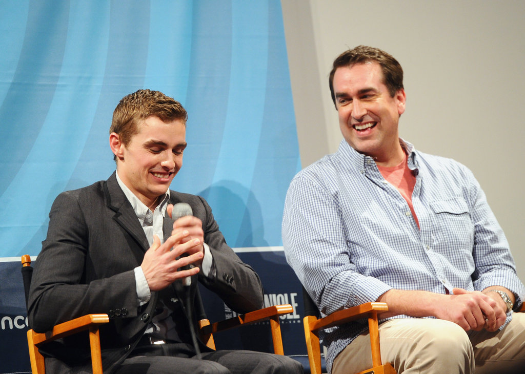 Rob Riggle and Dave Franco laughed.