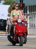 Vanessa Hudgens hit the open road in her Vespa.