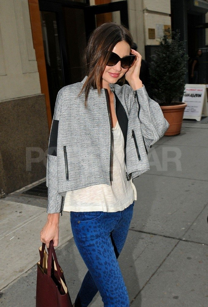 Miranda Kerr headed out to a meeting.