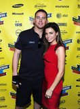 Channing Tatum and Jenna Dewan posed together.