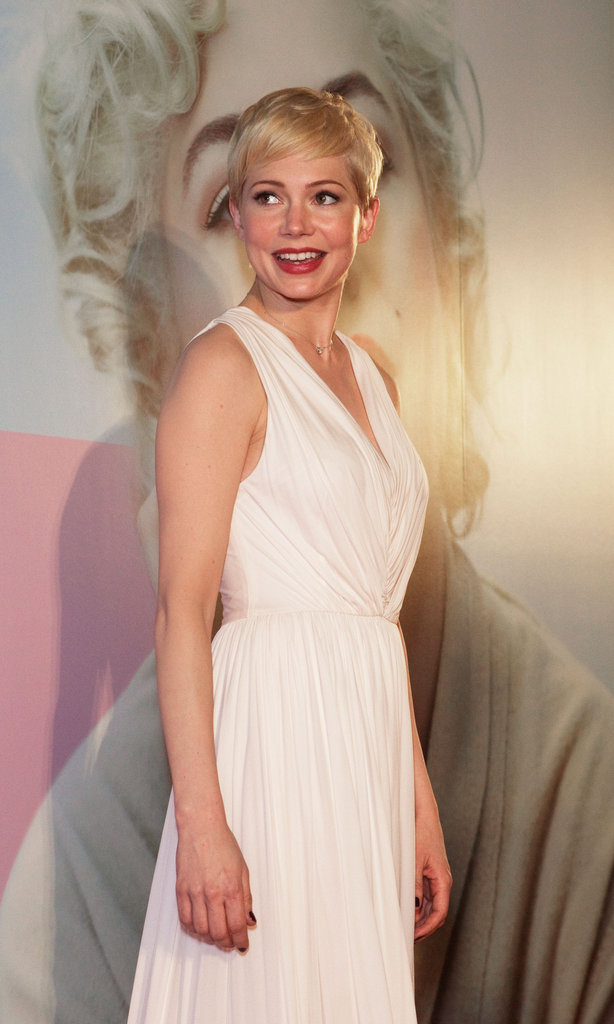 Michelle Williams at the Japan premiere of My Week With Marilyn.