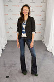 Zoe Saldana showed off her flares with a sophisticated-cool spin.